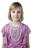 Little princess in purple dress Stock Photo