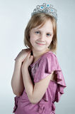 Little princess in purple dress Stock Images