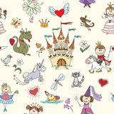 Little princess seamless pattern Royalty Free Stock Photography