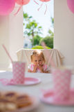 Little Princess Sitting on her Birthday Party Stock Photos