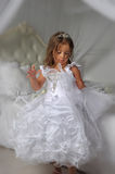 Little princess in a smart white dress Royalty Free Stock Photo