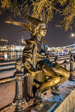 Little Princess Statue in Budapest. Little Princess Statue, Budapest, Hungary Royalty Free Stock Photos