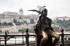Little Princess Statue in Budapest, Hungary Royalty Free Stock Images