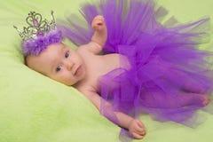 Little princess. Sweat little princess wearing a crown stock photos