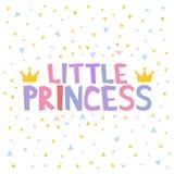 Little Princess T-shirt design poster vector illustration Stock Image