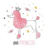 Little princess vector illustration for kids design. stock illustration