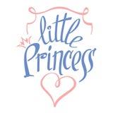Little Princess vector lettering for girl t-shirt Stock Photos