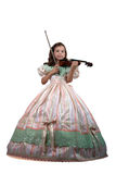 Little Princess and Violin Royalty Free Stock Photography