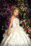 Little princess  in white dress Royalty Free Stock Photos