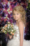 Little princess  in white dress Royalty Free Stock Photo
