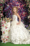 Little princess  in white dress Royalty Free Stock Image