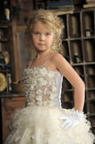 Little princess  in white dress Stock Images