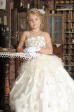Little princess  in white dress Stock Photography