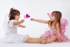 Little Princesses Royalty Free Stock Images