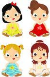 Little princesses Stock Image