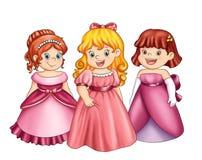 Little princesses stock photo