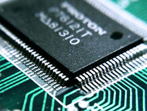 Little processor. On graphics card royalty free stock images