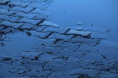 Little puddle after storm Royalty Free Stock Photos