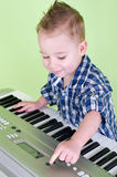 Little punks on the keyboard Stock Image