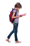 Little pupil with book Royalty Free Stock Images