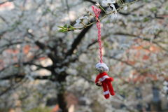 Little puppet hanging on the tree Royalty Free Stock Photography