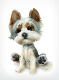 Little Puppy, vector icon Royalty Free Stock Images