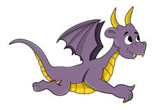 Little purple dragon cartoon Stock Photo