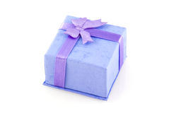 Little purple jewelry box. Stock Photography