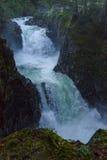 Little Qualicum Falls. Little Qualicum Provincial Park, Parksville, Qualicum, British Columbia, Vancouver Island, Canada, Waterfall Stock Photos