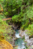Little Qualicum Falls on Vancouver Island, Canada Royalty Free Stock Images
