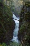 Little Qualicum Provincial Park, Parksville, Qualicum, British C. Olumbia, Vancouver Island, Canada, Waterfall Stock Photo