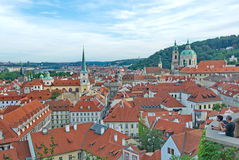 Little Quarter in Prague with the Church of St. Nicholas Stock Image