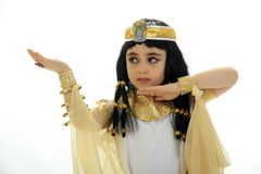 Little queen Cleopatra. A girl dressed like queen Cleopatra Stock Photo