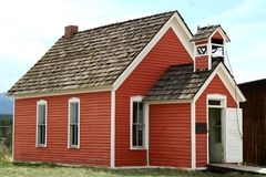 little röd schoolhouse Royaltyfri Fotografi