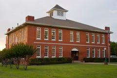 little röd schoolhouse Arkivfoto