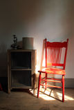 Little röd stol Arkivfoto
