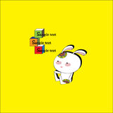 Little rabbit and the cubes Stock de ilustración