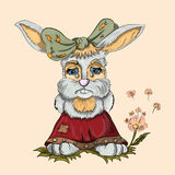 Little rabbit girl crying Stock Images