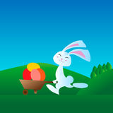 Little rabbit is involved in running races Royalty Free Stock Photo