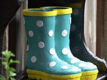 Little rain boots Stock Image