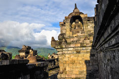 Little rainbow Buddist temple Borobudur complex in Yogjakarta in Stock Photo