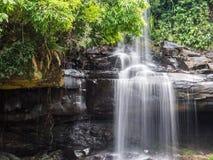 Little rainforest waterfall at Koh Kood. Trat, Thailand Stock Photos