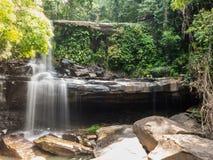 Little rainforest waterfall at Koh Kood Stock Images