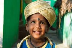 Little Raj. Indian children. Royalty Free Stock Images