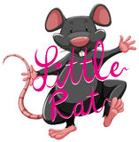 Little rat idiom with text Stock Photography