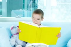 Little reader Royalty Free Stock Image