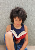 Little reader Royalty Free Stock Photography