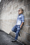 Little rebellious and lonely child in search. Little rebellious and lonely child Royalty Free Stock Images