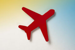 Little Red Airplane. Red Airplane Magnet Photograph (with clipping path Stock Image