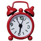 Red Alarm Clock on White Background royalty free stock photography